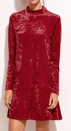 Robe velours rouge boho boheme chic dress1155