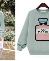 SWEAT FLACON PARFUM PARIS BOHO BOHEME CHIC M0171