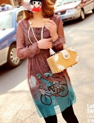 Robe love is imprimée soie boho boheme chic dress0216