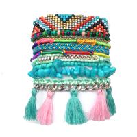 2014 luxury handmade bohemia weave bead bracelet multilayer fashion statement bracelets bangles for women party jewelry