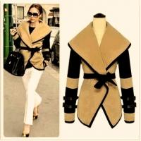 2014 new summer fashion autumn coat for women european style victoria personality shawl lapel wool coat