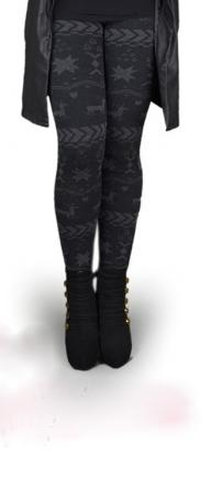 Leggings flocon neige boho boheme chic legg0021