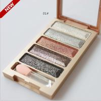 2015 new brand 5 color eyeshadow makeup eye shadow palette super flash diamond eyeshadow high quality 1
