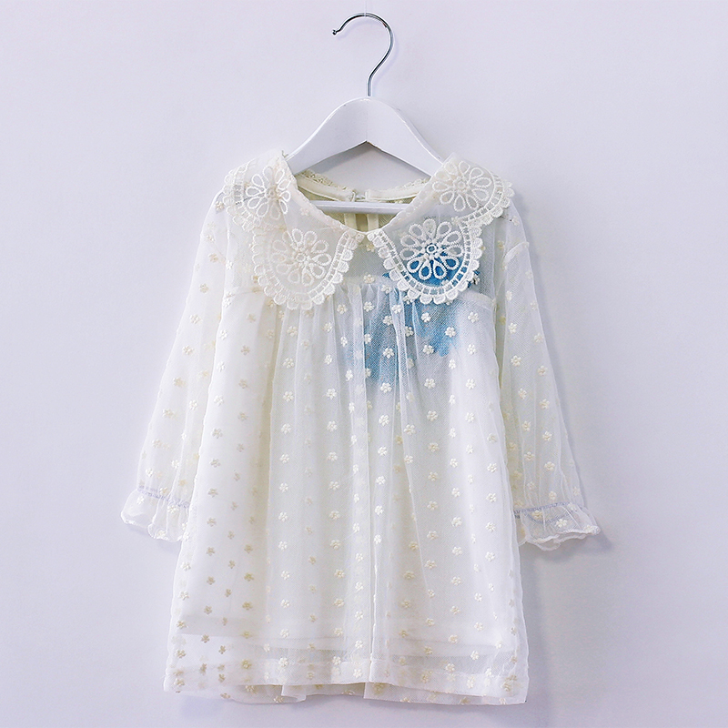 2016 summer new korean children s clothing lace sleeve kids t shirt cotton thin good quality 1
