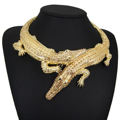 Collier crocodile strass boho boheme chic NECKLACE0583