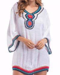 TUNIQUE CROCHET BOHO BOHEME CHIC M0211