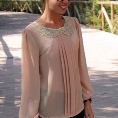 TOP BLOUSE COL PAILLETTES BOHO BOHEME CHIC F0311