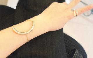 Bracelet demi cercle boho boheme chic BANGLE0640