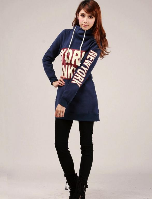 ROBE SWEAT BLEU NEW YORK YANKEE BOHEME E0084