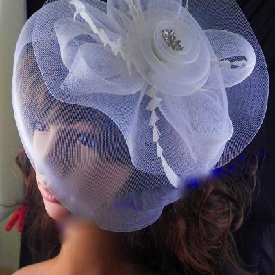 ACCESSOIRE CHEVEUX MARIAGE TULLE BLANC BOHO V0031