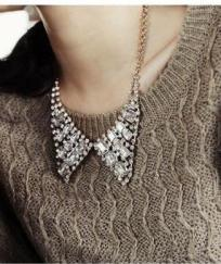 COLLIER STRASS STYLE COL CLAUDINE BOHO BOHEME CHIC N0041