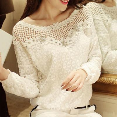 Top blouse dentelle strass boho boheme chic TOP0541