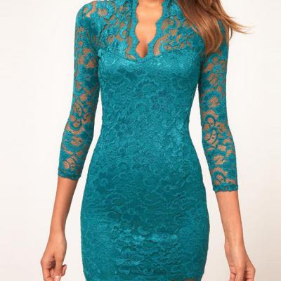 Robe dentelle boho boheme chic dress0393