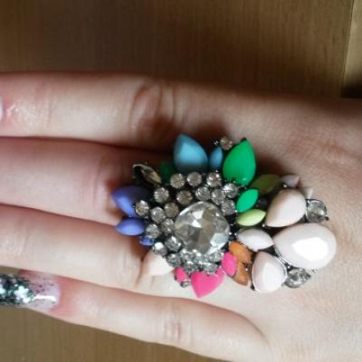 BAGUE BIG FLOWER AJUSTABLE BOHO BOHEME CHIC N0167