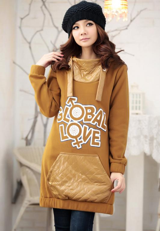 "ROBE PULL SWEAT CELEBRITES ""GLOBAL LOVE"" BOHEME CHIC D0312 - 44/46"