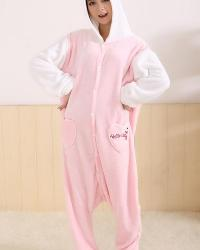 PYJAMA UNE PIECE HELLO KITTY ROSE ET BLANC BOHO BOHEME CHIC H0051