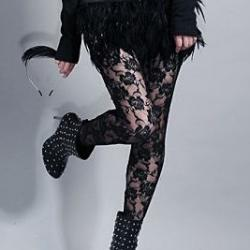 COLLANTS LEGGINGS DENTELLE BOHEME CELEBRITES U0001