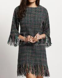 ROBE COURTE FRANGES CHINEE CELEBRITES BOHO BOHEME CHIC D1081
