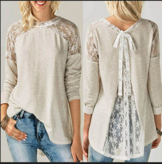 Top blouse dos dentelle boho boheme chic TOP0540