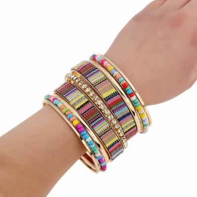 Bracelet multirangs multi couleurs boho boheme chic BANGLE0664