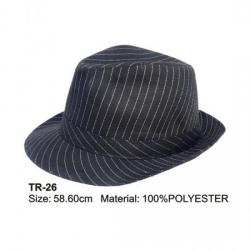 CHAPEAU TRILBY RAYURES  BLANCHES BOHEME  O0005