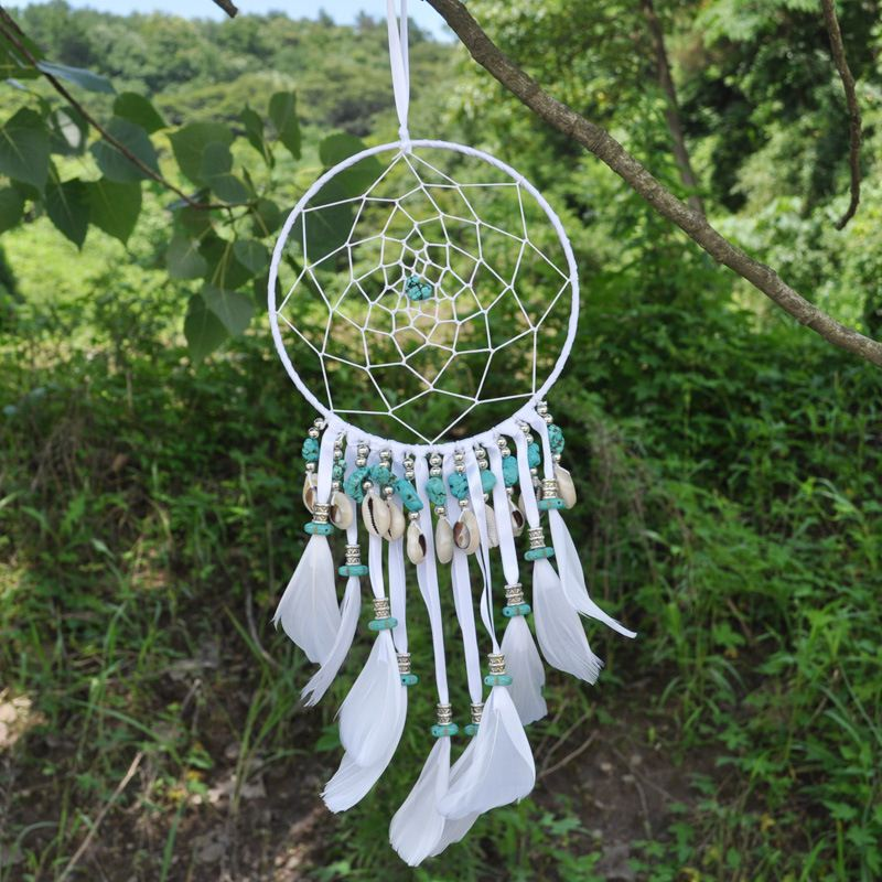Artilady hand made wall hang feather decoration 1