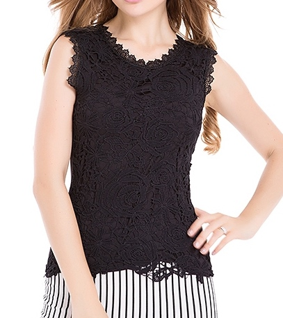Blusas femininas 2015 fashion tropical women blouses sexy lace shirt sleeveless worsted design solid pattern female