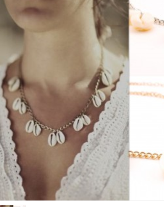 COLLIER COQUILLAGES BOHO BOHEME CHIC D0015Bis