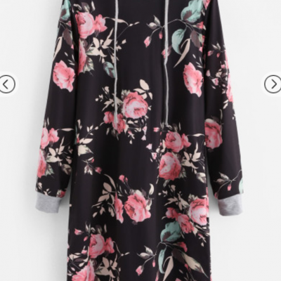 Robe sweat fleurs boho boheme chic dress1307