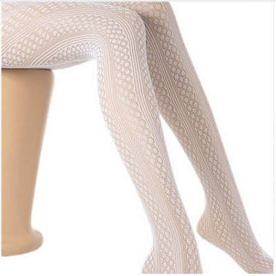 COLLANTS BLANCS MAILLE BOHO CHIC BOHEME COLLANTS0325