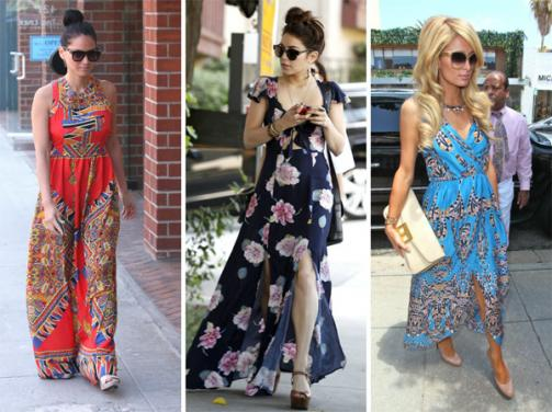 Celebrities wearing maxi dresses and heels o9bgb1