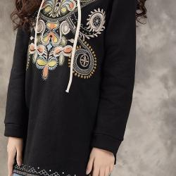 SWEAT TUNIQUE BRODE BOHO BOHEME CHIC CELEBRITES G0187