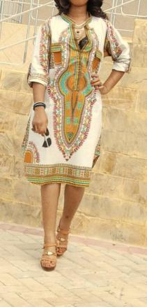 Robe imprimée vintage boho boheme chic dress0952