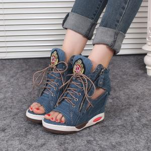 CHAUSSURES COMPENSEES JEAN BOHO BOHEME CHIC I0063