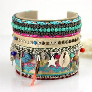 Bracelet manchette ethnique boho boheme chic BANGLE0670