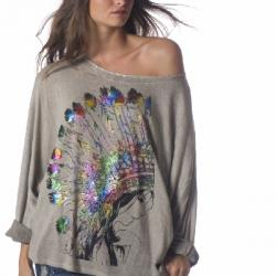 TOP PULL OVER LOOSE INDIEN BOHO BOHEME CHIC F0354