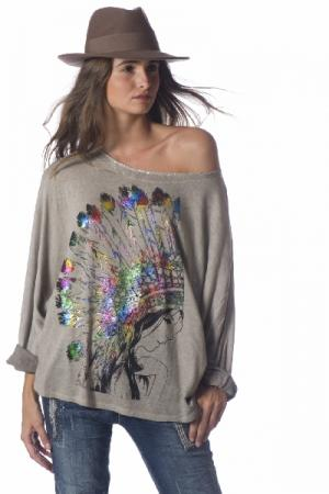 Top pull over loose indien boho boheme chic PULL0354