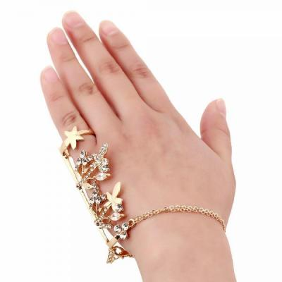 Bracelet bijou main bague boho boheme chic bangle0735