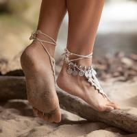 Elegant turkish coin silver antalya bracelet gypsy foot sandal beach ankle chain