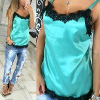 Fashion sexy women camisoles summer casual lace patchwork vest tops sleeveless tank tops t shirt