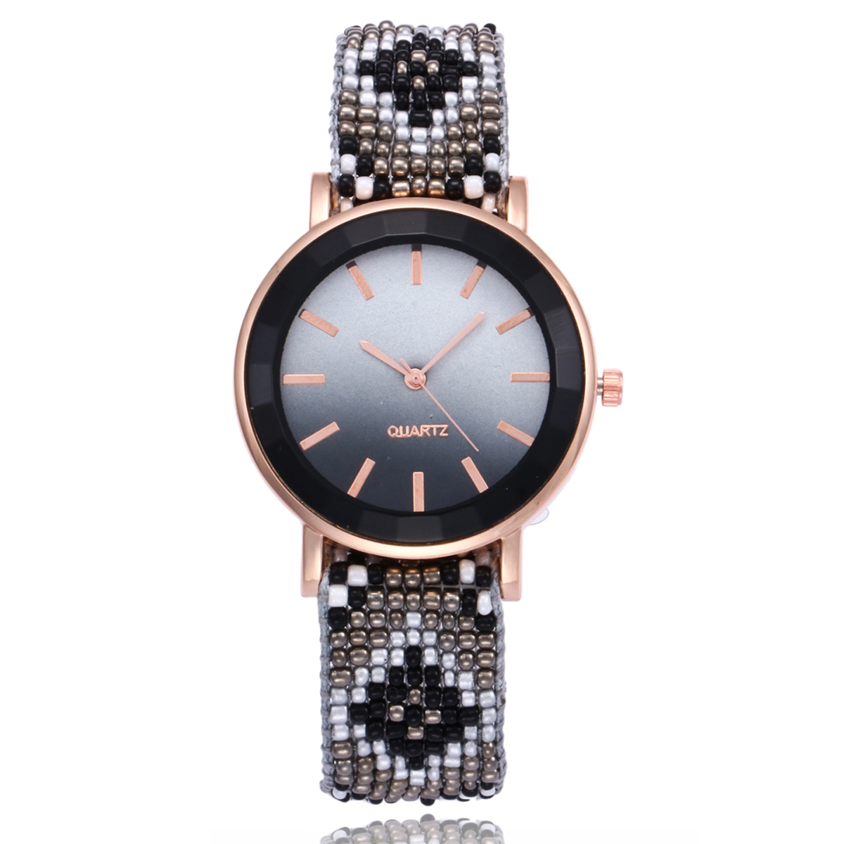Femmes casual color bracelet montre shellhard dames boh me tiss tress bracelet analogique robe montre bracelet