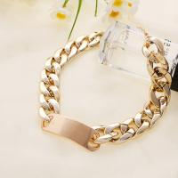 Free shipping gold plated ccp plastic wide chain ladies necklace jewelry made of plastic not metal 1