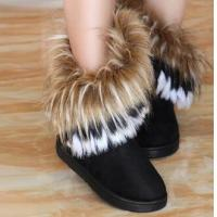 Free shipping warm winter boots tall artificial snow fox connie tassel shoes 1