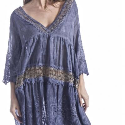 Robe macramé boho boheme chic dress1402