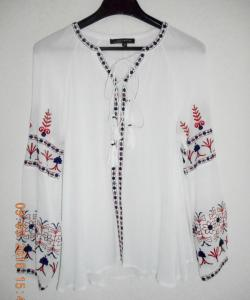 TOP BLOUSE BRODEE ETHNIQUE BOHO BOHEME CHIC TOP0441