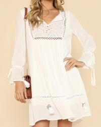 ROBE ENCOLURE BRODEE  BOHO BOHEME CHIC DRESS1445