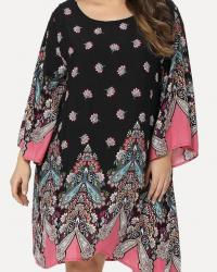 ROBE IMPRIMEE FLEURS BOHO BOHEME CHIC DRESS1446