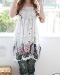ROBE COURTE TUNIQUE PLAGE IMPRIMEE BOHO BOHEME CHIC DRESS1464