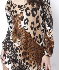 TUNIQUE LEOPARD BOHO BOHEME CHIC TUNIC0458