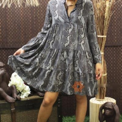 Robe imprimé serpent oversize boho bohème chic DRESS1496